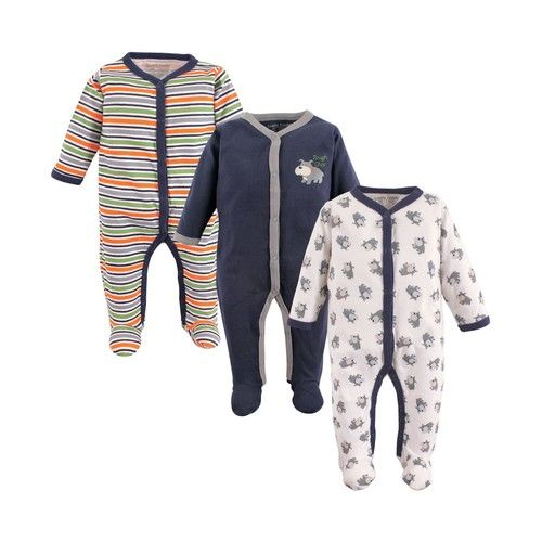 Luvable Friends Sleep and Play, 3-Pack, 0-9 Months
