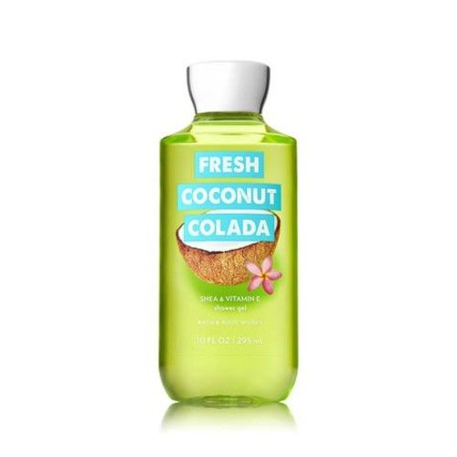 Bath and Body Works Fresh Coconut Colada Shower Gel 10 Ounce Summer 2018 Collection