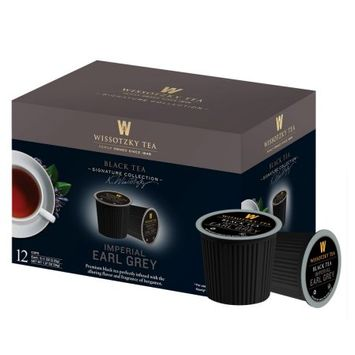 Wissotzky Tea Imperial Earl Grey Tea Single Serve Cups For Keurig K Cup Brewer, 12 Count