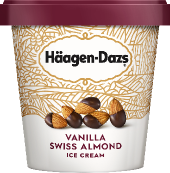 Haagen-Dazs Vanilla Swiss Almond Ice Cream