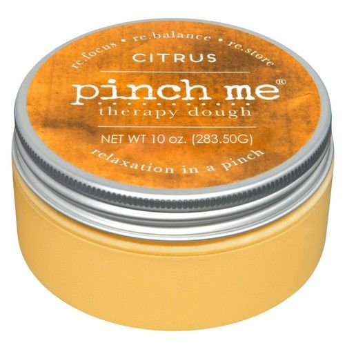 Pinch Me Therapy Dough - Holistic Aromatherapy Stress Relieving Putty - 10 Ounce Citrus Scent [Citrus]
