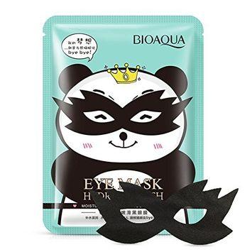 BIOAQUA Cute Panda Black Bamboo Charcoal Eye Masks Deep Sea Collagen Hyaluronic Acid Anti-Wrinkle Eye Moisturizer (Pack of 1 or 5) (5PCS)