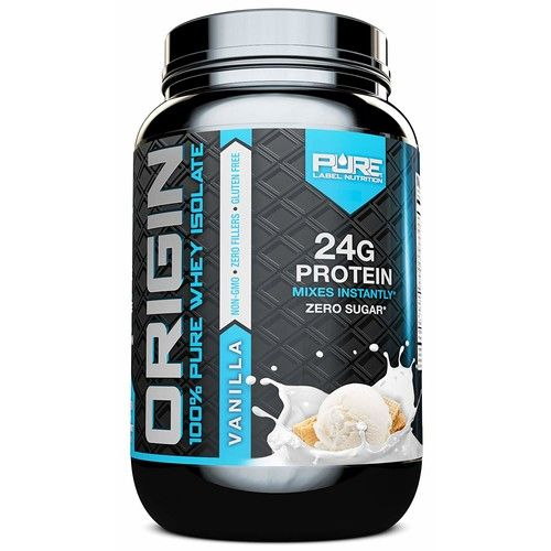 Whey Protein Isolate, Cold Processed Undenatured, Keto Friendly Whey Protein Powder, Non GMO, Gluten Free, Lactose Free, Sugar Free, 2 pounds (Vanilla)
