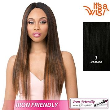 it's a Wig! - Sleek Yaki Straight Ready-To-Go Style with Heat Resistant Synthetic Wig - LOLA