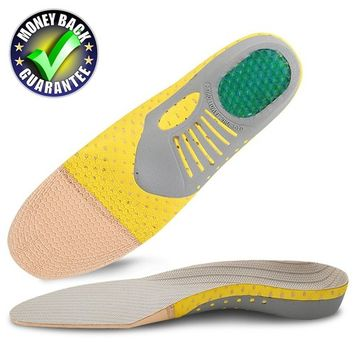 Dr.Koyama Mild Arch Support Orthotic Shoe Inserts Ultra Light -Shock Absorption, Heel Protection & Odor Control Insoles