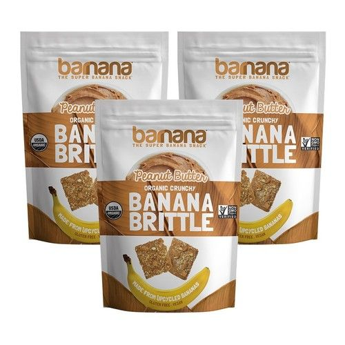 Barnana Banana Brittle, Peanut Butter, 3.5 OZ, 3 Count - Organic dessert cookie style snack with potassium, vitamin C, and other clean ingredients. Gluten free