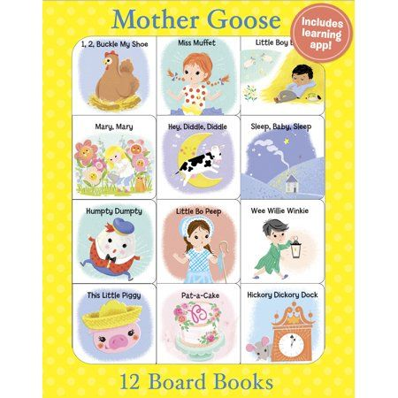 Mother Goose 12 Mini Board Books - (Paperback)