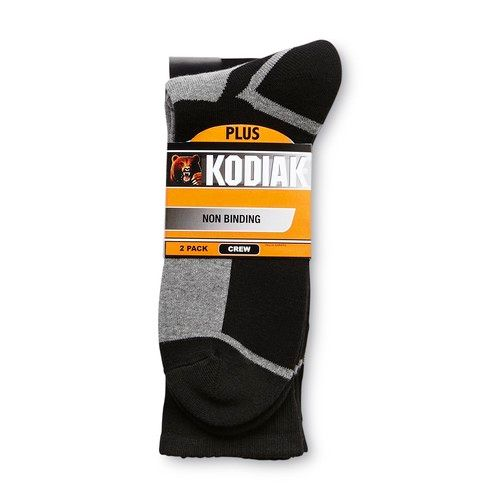 Men's 2-Pairs Non-Binding Crew Socks [Fit : Men's]