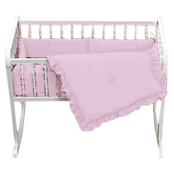 Baby Doll Bedding Solid Cradle Set, Pink