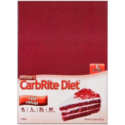 Universal Nutrition, Doctor's CarbRite Diet, Red Velvet, 12 Bars, 2.00 oz (56.7 g) Each(pack of 2)