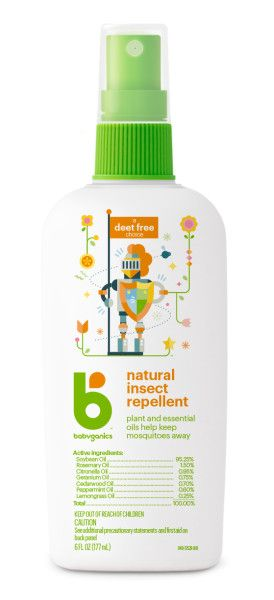 Babyganics Natural Insect Repellent DEET-Free - 6 fl oz