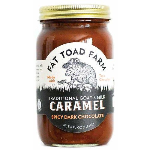 Fat Toad Farm Traditional Goat's Milk Caramel Sauce, Spicy Dark Chocolate, 8fl oz Jar, Cajeta, Gluten Free [Spicy Dark Chocolate]