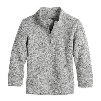 Toddler Boys Jumping Beans® Quarter Zip Fleece Pullover Sweater