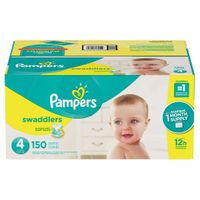 Pampers Swaddlers Diapers Size 4, 150 Count