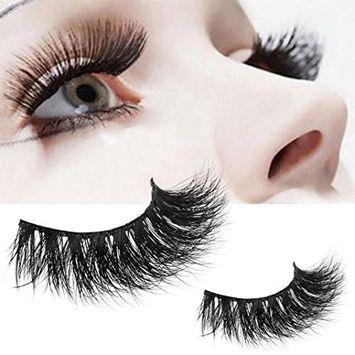 FTXJ Lashes Soft Thin Natural Style Mink 3D lashes Strip 100% Fake Eyelashes Hand-made False Eyelash 1 Pair Package