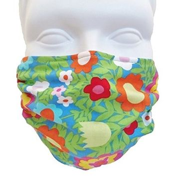 Floral Medallions Style Face Mask - Comfortable, Reusable Anti Dust Mask - Filters Dust, Pollen, Allergens, & Flu Germs - Allergy Mask - Ideal for Dog Grooming, Gardening, Sanding
