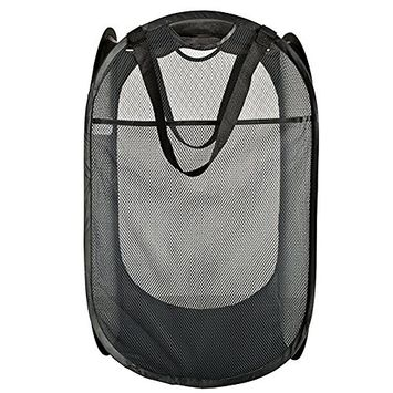 Foldable Steel Wire Laundry Basket Bag Hampers Toy Basket