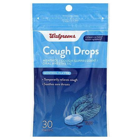 Walgreens Cough Drops Menthol - 30.0 ea