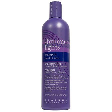 Clairol Professional Shimmer Lights Blonde & Silver Shampoo -16 fl oz