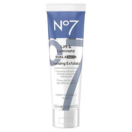 No7 Lift & Luminate Dual Action Cleansing Exfoliator - 3.3 fl oz