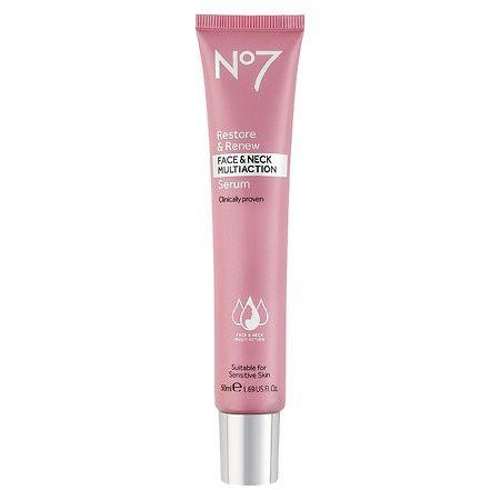 No7 Restore & Renew Face & Neck Multi Action Serum - 2ct/1 fl oz