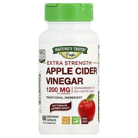 Nature's Truth Extra Strength Apple Cider Vinegar Vegetarian Capsules - 60.0 ea