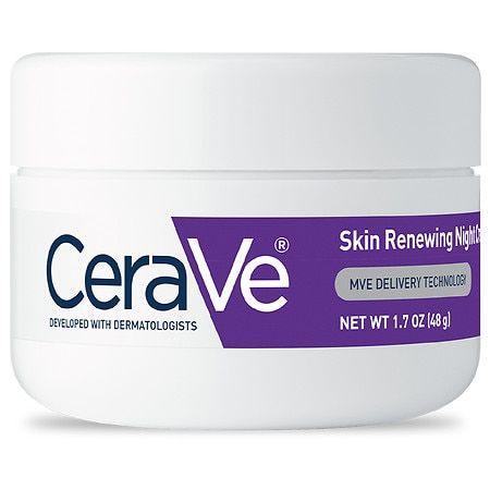 CeraVe Skin Renewing Night Cream for Softer Skin, 1.7 oz.