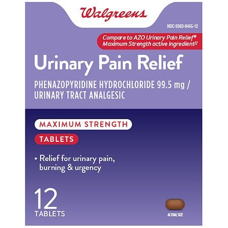 Walgreens Urinary Pain Relief Maximum Strength - 12.0 ea