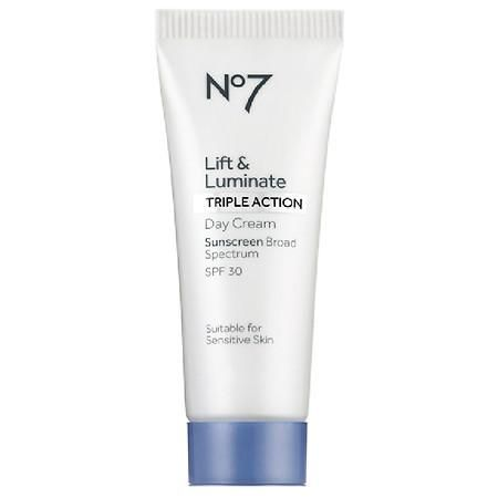 No7 Lift & Luminate Triple Action Day Cream Sunscreen SPF 30 - 0.84oz