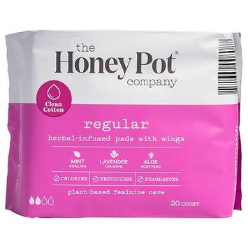 The Honey Pot Regular Herbal Menstrual Pads - 20ct