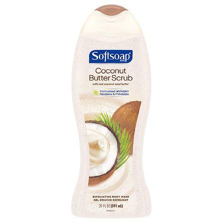 Softsoap Exfoliating Body Wash Scrub Coconut Butter - 20.0 fl oz