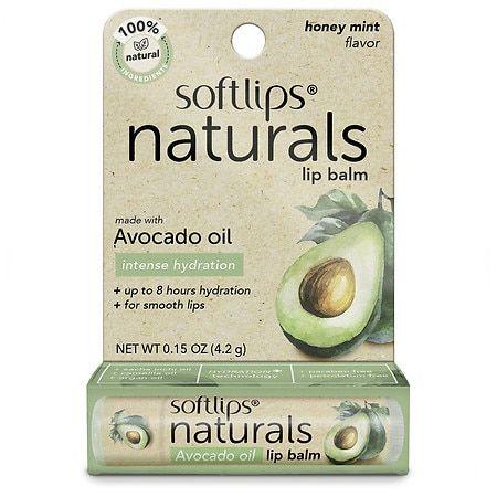 Softlips Naturals Lip Balm With Avocado Oil - 0.15 oz