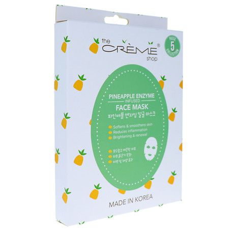 The Creme Shop Pineapple Enzyme Infused Face Mask 5pc Collection - 6.25 oz.