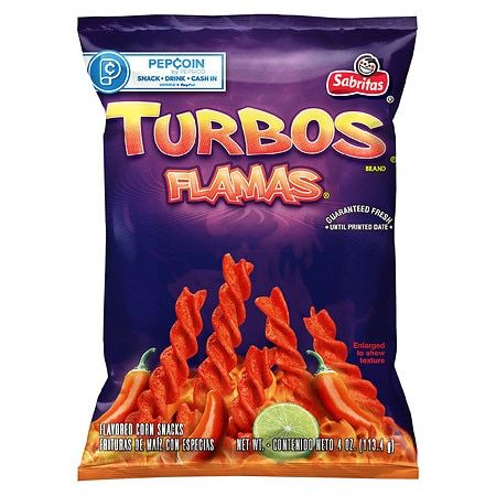 Sabritas Turbos Flamas Corn Chips - 4oz, Adult Unisex
