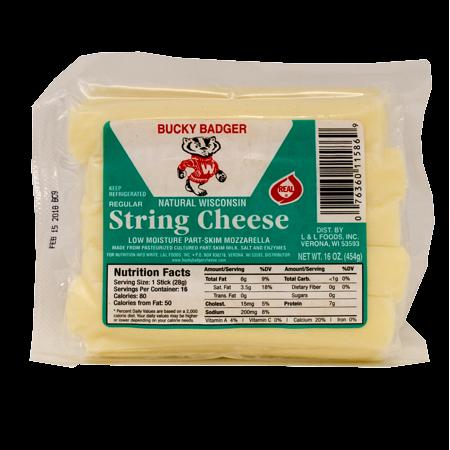 Bucky Badger String Cheese, 16 Oz.