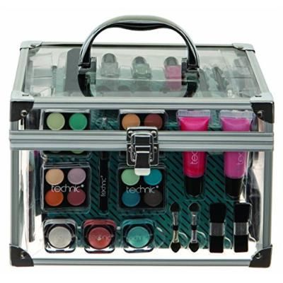 Technic Essentials Clear Cosmetic Carry Case Makeup Set