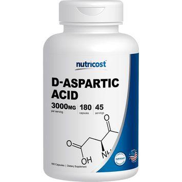 Nutricost D-Aspartic Acid 3000mg, 180 Capsules