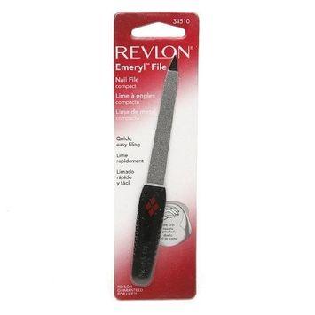 Revlon Emeryl File Compact, Model 34510, 1 Pack (REVLON GUARANTEED FOR LIFE)