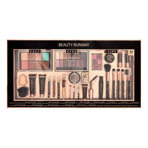 ($45 Value) Beauty Runway 53 Pc Cosmetic Set, Essentials