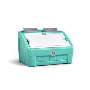 2-in-1 Toy Box & Art Lid™ - Mint