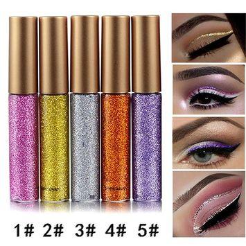 Coosa Glitter Liquid Eyeliner 5PCS Long Lasting Waterproof Sparkling Eyeliner Eye Shadow Pen – 5PCS-1