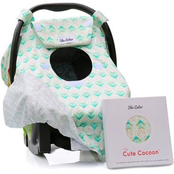 Sho Cute The Cute Cocoon Baby Car Seat Cover - Mint Arrows