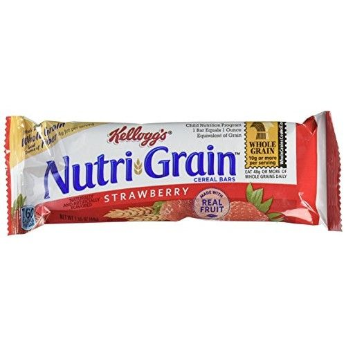 Kellogg's Nutri-Grain Cereal Bars (Strawberry, 1.55 oz, Pack of 96)