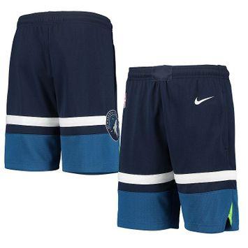 Nike Youth Navy Minnesota Timberwolves 2020/21 Swingman Performance Shorts - Icon Edition
