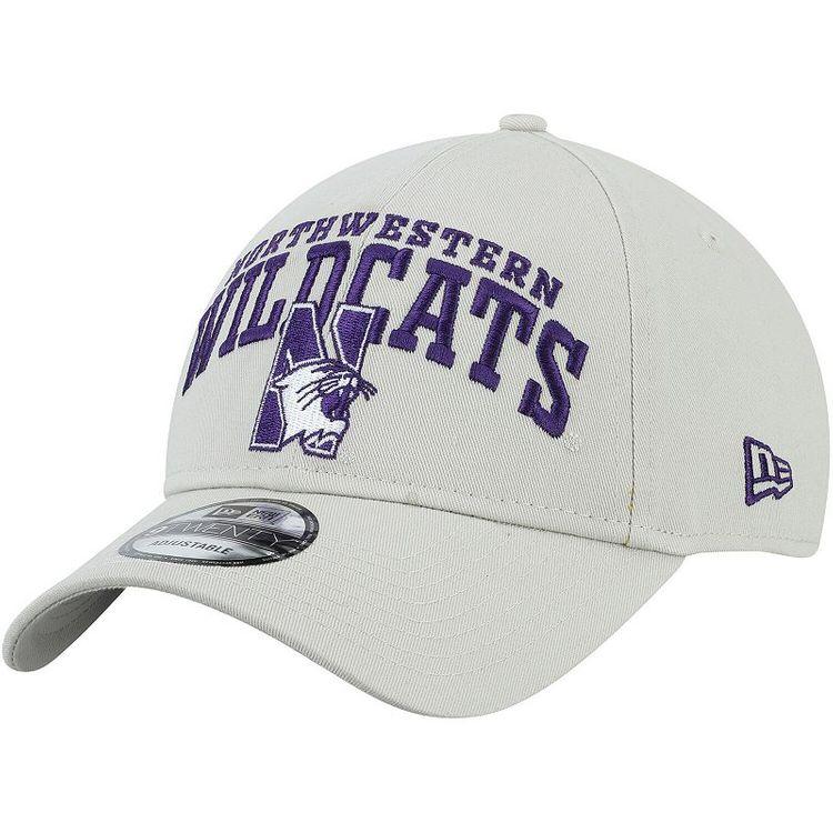 New Era Men's Cream Northwestern Wildcats Arch Over Logo 9TWENTY Adjustable Hat