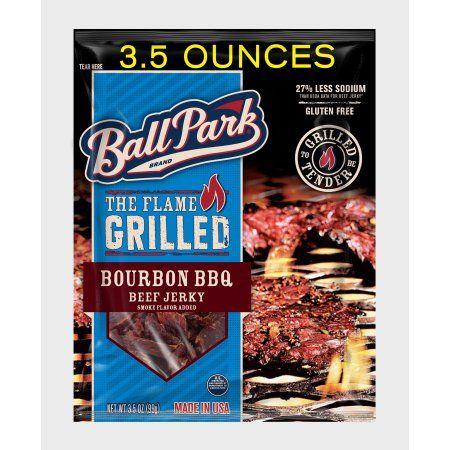 Ball Park Flame Grilled Beef Jerky, Bourbon BBQ, 3.5 Oz