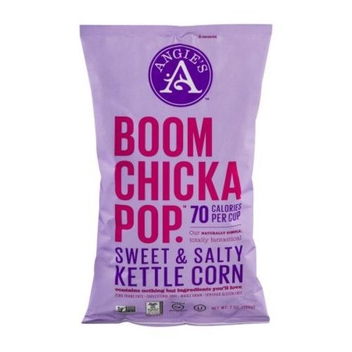 BOOMCHICKAPOP Angie's Sweet & Salty Kettle Corn Popcorn, 7 Ounce Bag (Pack of 12 Bags)