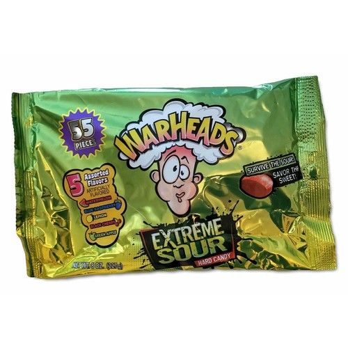 Warheads Extreme Sour Hard Candy (1/2 Pound Bag) 5 Assorted Flavors