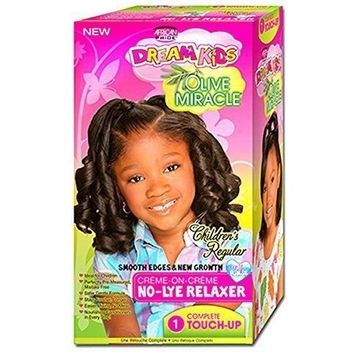 AFRICAN PRIDE DREAM KID OLIVE MIRACLE TOUCH UP RELAXER KIT REGULAR 1 TOUCH UP