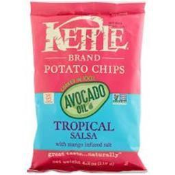 Kettle Brand 2141539 4.2 oz Avocado Oil Tropical Salsa Potato Chips